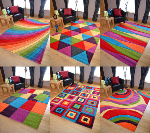 Best Details About Funky Bright Modern Multi Coloured Thick 640 x 480