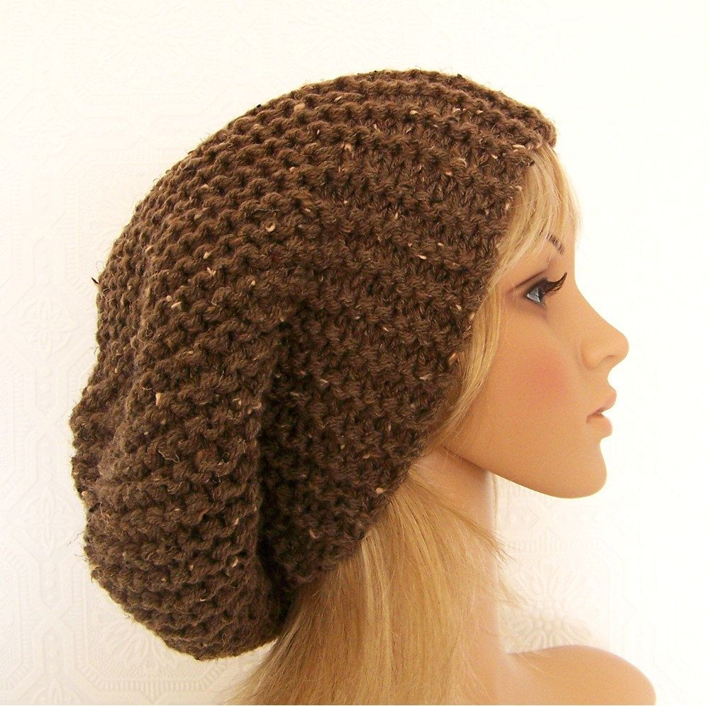 Knitting hat pattern - adult slouch hat - Winter Fashion ...