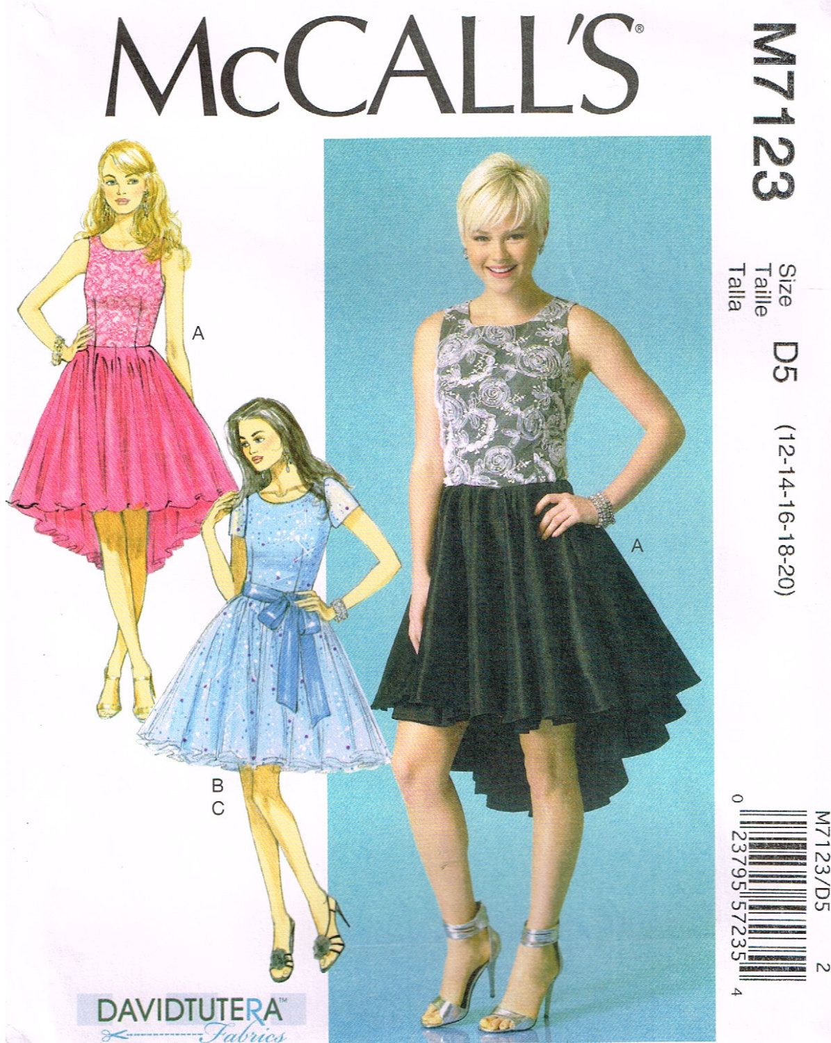 McCall\'s M 7123, Sewing Pattern, Misses\' Dresses and Sash by David ...