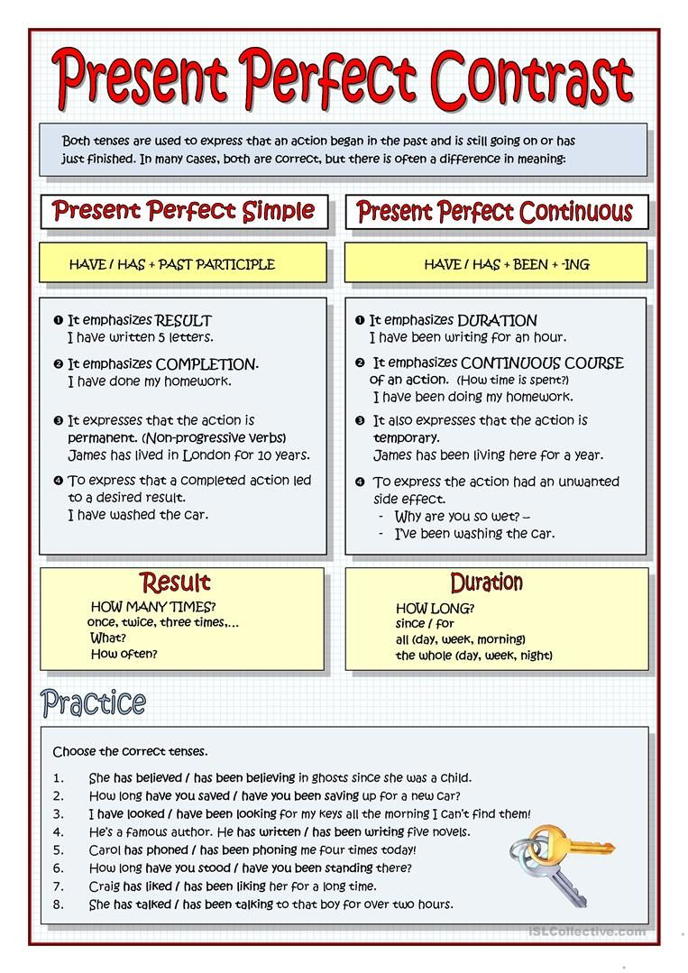 Present Perfect Contrast Worksheet Free Esl Printable Worksheets Made By Teachers Present Perfect Grammar And Vocabulary English Grammar [ 1079 x 763 Pixel ]
