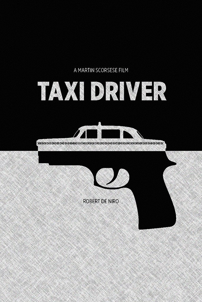 Taxi Driver Black And White Movie Poster Black And White Movie Movie Posters Taxi Driver