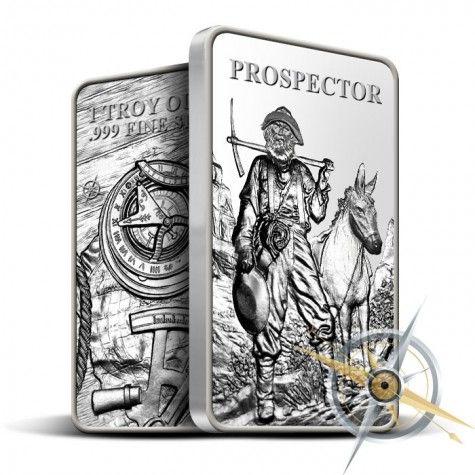 Provident Prospector 1 Oz Silver Bar Buy Prospector One Ounce Bars Silver Bars Silver Bullion Silver