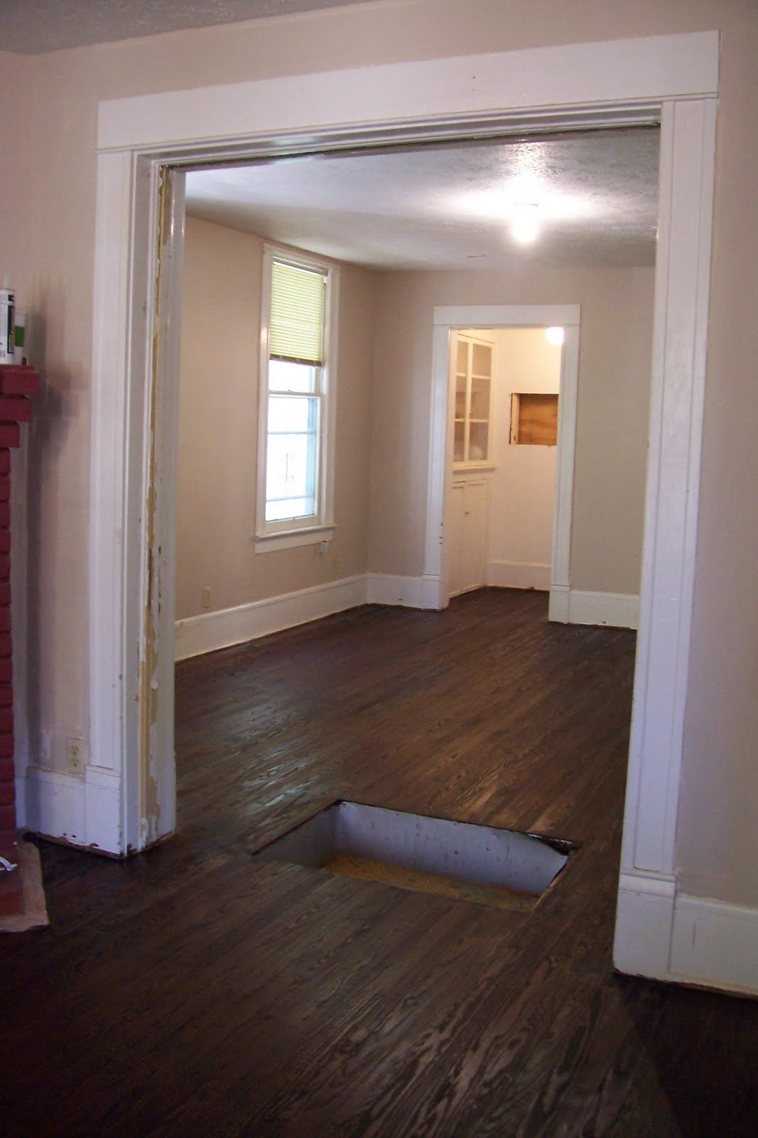 New flooring staining heart pine dark walnut