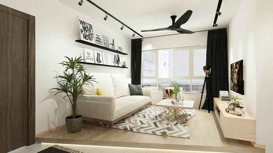 3 Room Bto At Mcnair Tower By Artisan Space Living Room Color Schemes Living Room Scandinavian Living Spaces