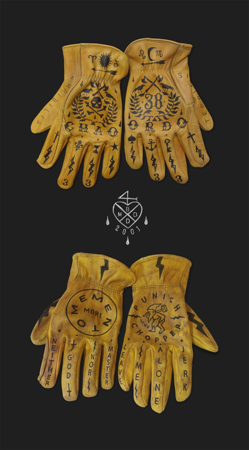 45232abb6bb55 Custom gloves by BMD Design | Typography | Motorcycle gloves, Biker ...
