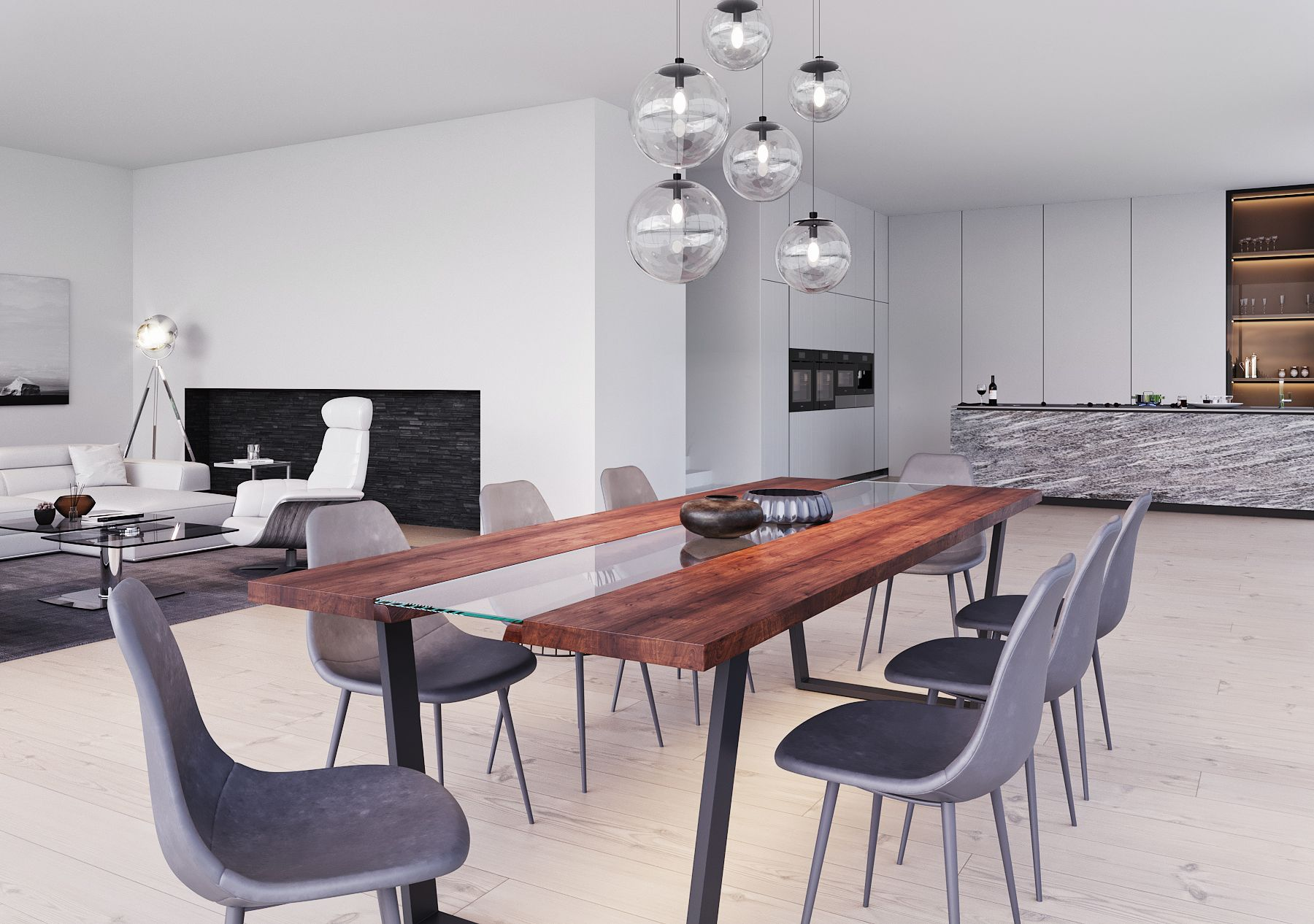 Kaawa Dining Table Large Dining Table Modern Dining Table