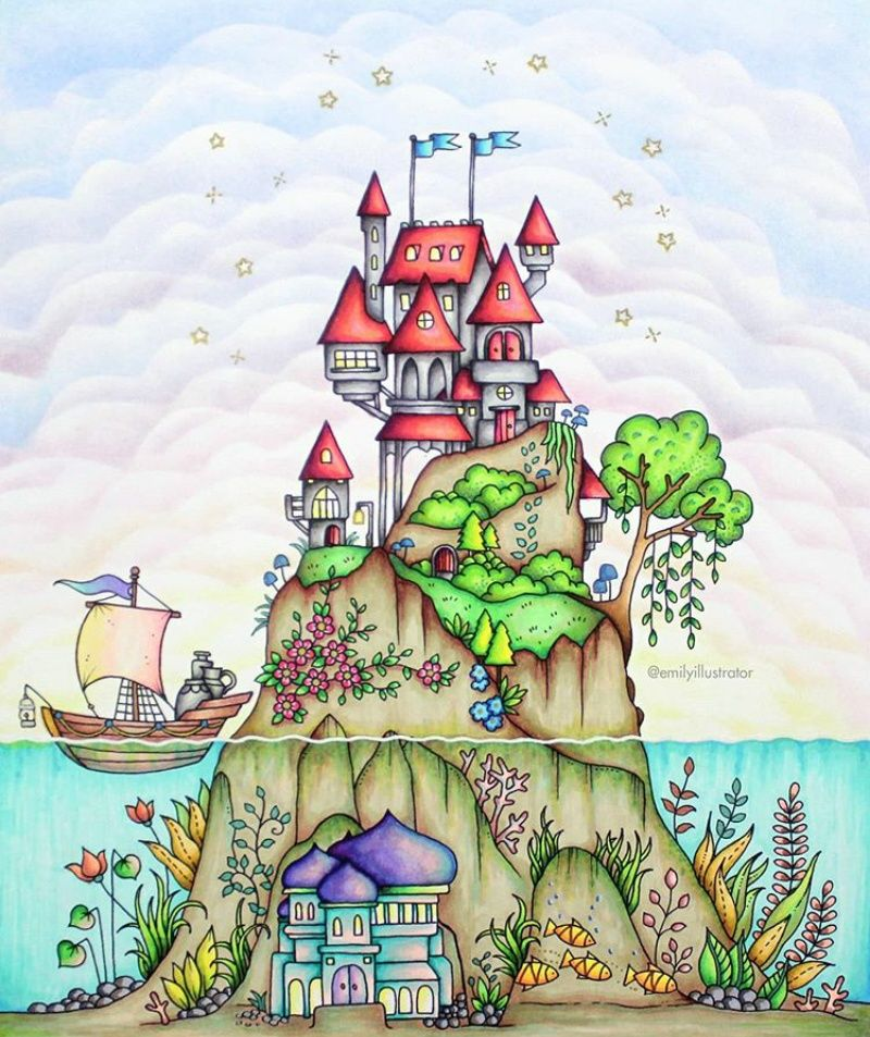 Pin By Angiee On Aa Dibujos A Color Johanna Basford Coloring Book Marker Art Johanna Basford Coloring