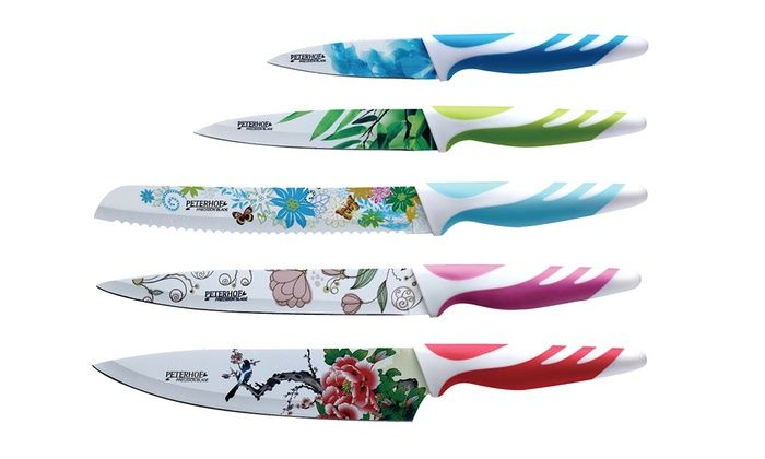 5 Piece Antibacterial Knife Set Multiple Colors Available Free Returns Ceramic Knife Knife Sets Kitchen Knives