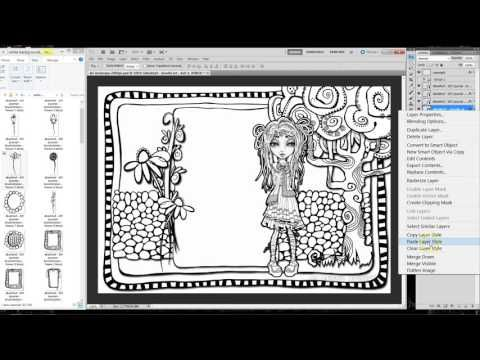 DIY Colouring Page - Photoshop Tutorial | Coloring pages ...