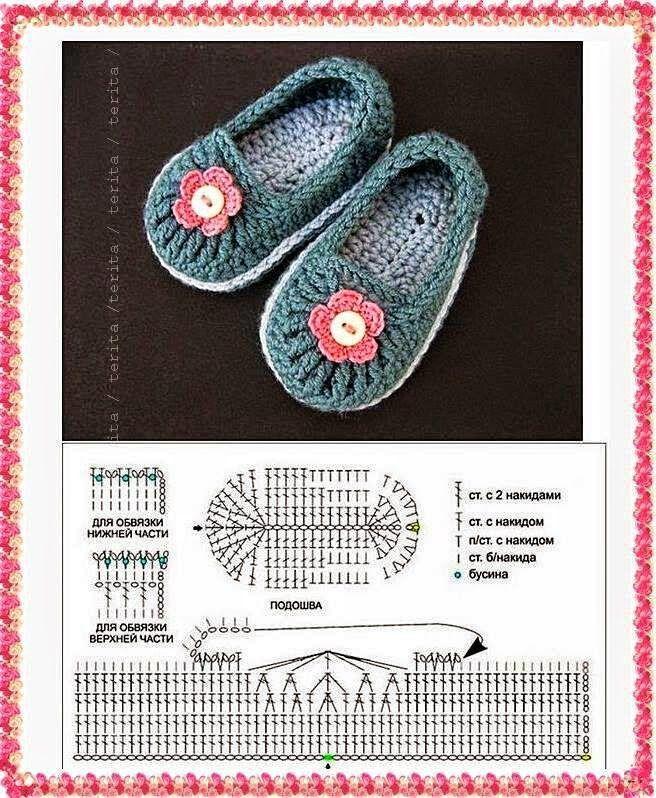 Patrón de escarpines | Shoes | Pinterest | Escarpines, Patrones y ...