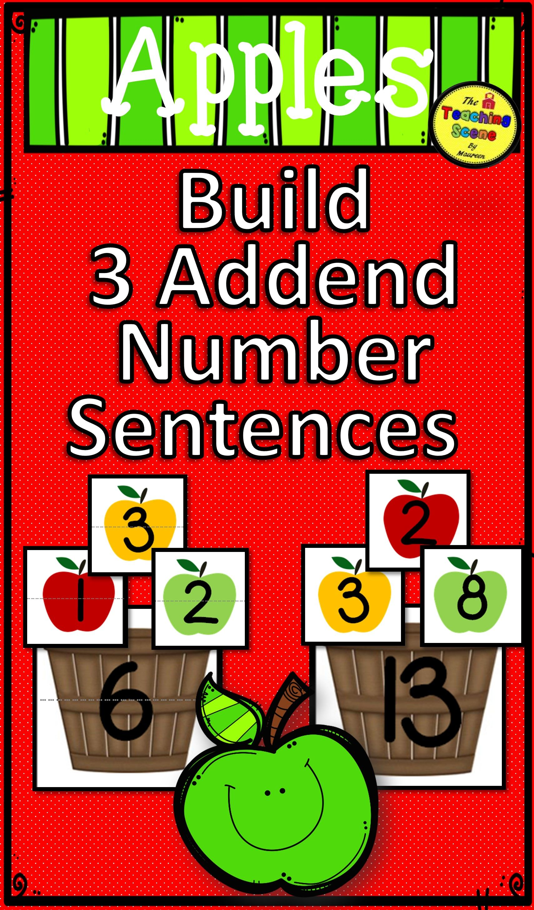 Apple Build 3 Addend Addition Amp Subtraction Number