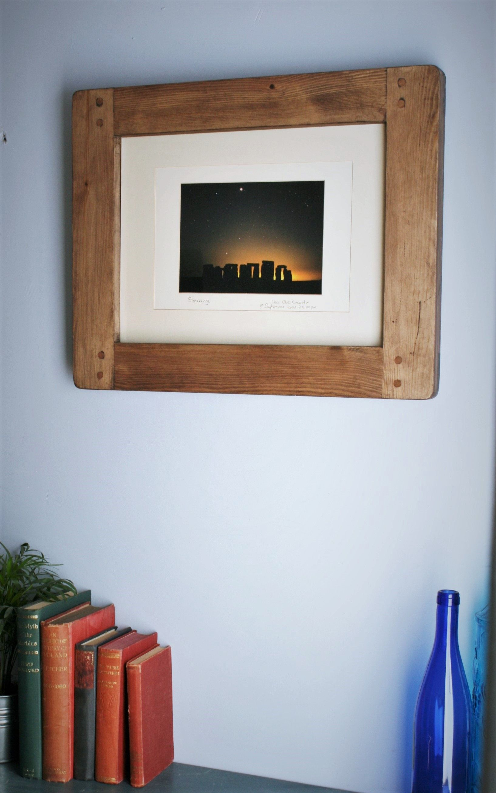 Wooden Frame For Photo Picture 12 X 16 Inch Sustainable Modern Rustic Natural Wood Dark Frame Portrait Landscape Custom Handmade In Uk Rustic Wooden Furniture Picture Frame Designs Custom Picture Frame