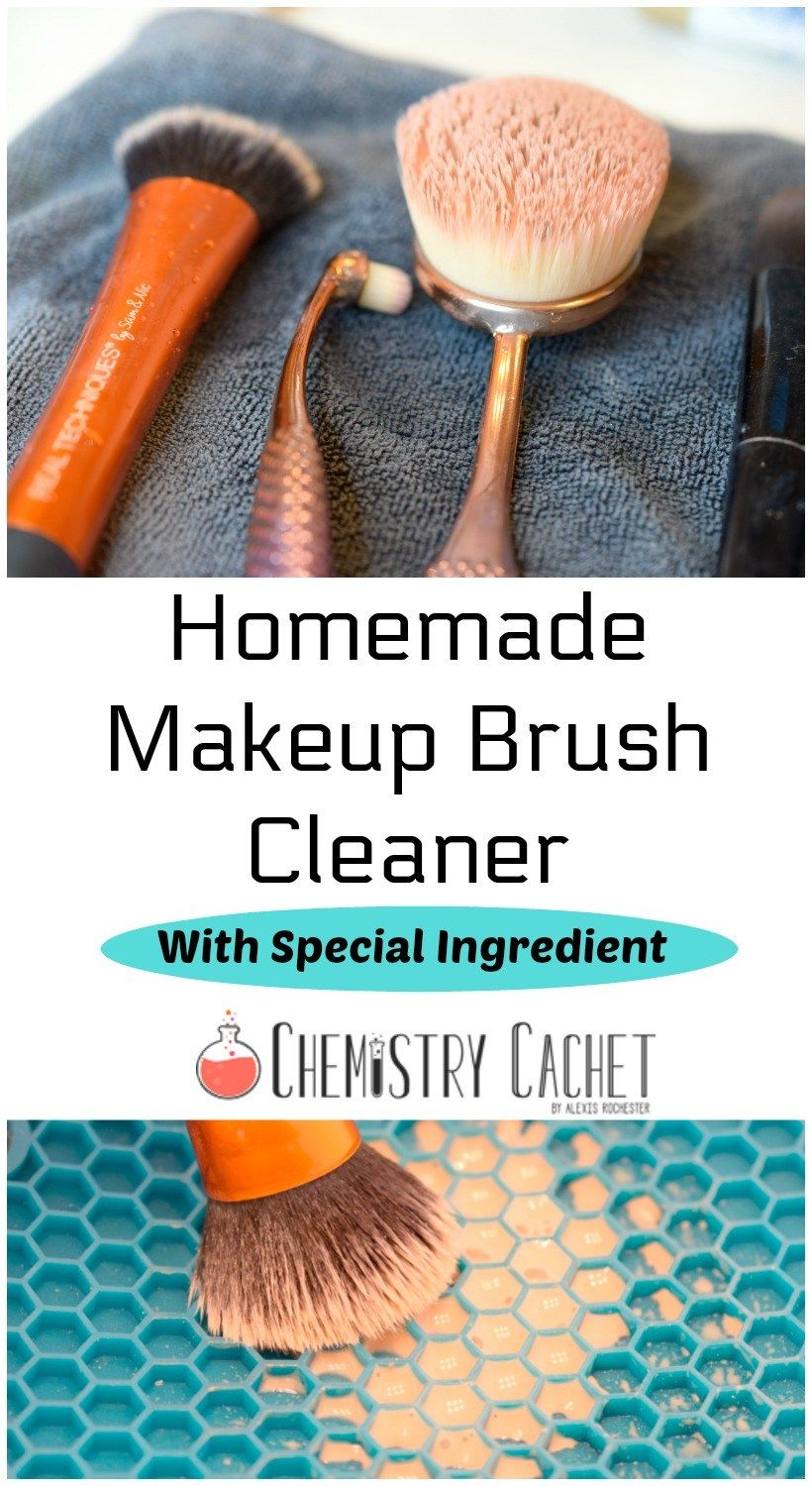 Homemade Makeup Brush Cleaner With Special Ingredient