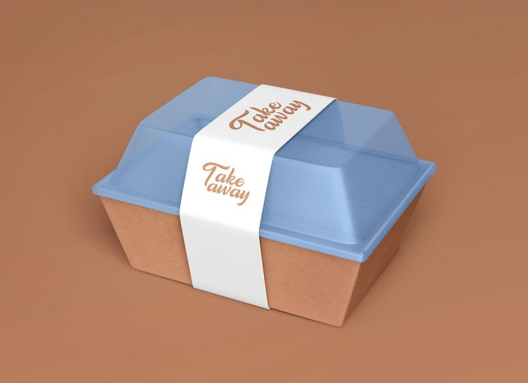 Download Free Take Away Plastic Box Food Container Mockup Free Package Mockups Food Containers Food Packaging Design Takeaway Packaging