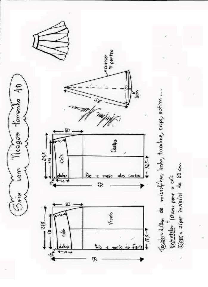 Pin de Ivon Chuquilin en polleras   Pinterest   Molde, Costura y ...