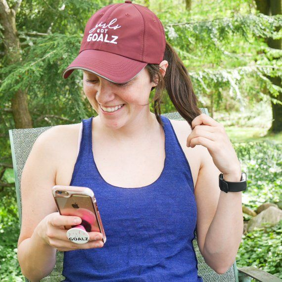 Girls Got Goalz Burgundy Workout Hat  7b787d992d1