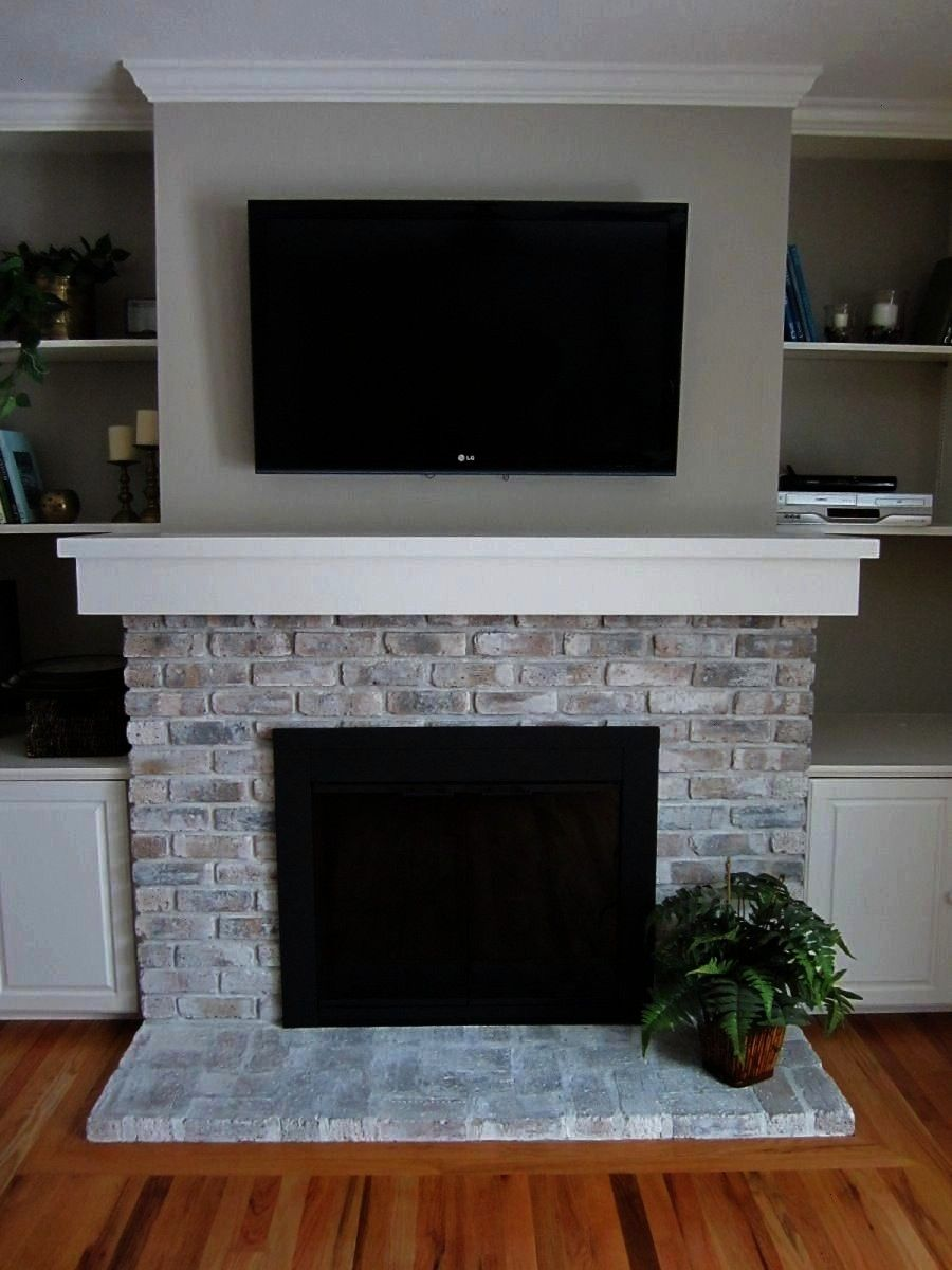 Fireplace If your brick fireplace is in need of a face lift and removing the brick isnt a viable option for you whitewashing your existing brick is a great alternative Th...
