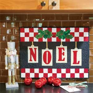 Little Noel: Fast Adorable Christmas Quilted Wall Hanging Pattern ... : christmas wall hanging quilt patterns - Adamdwight.com