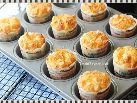 Resep Cheese Custard Muffin The Best Cheese Muffin Ever Oleh Tintin Rayner Resep Resep Makanan Ringan Manis Makanan Penutup Mini