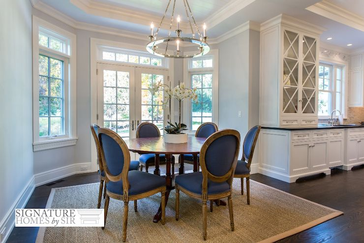 Blue Dining Chairs Transitional Kitchen Sir Development Blue Dining Chair Round Back Dining Chairs Breakfast Nook Table
