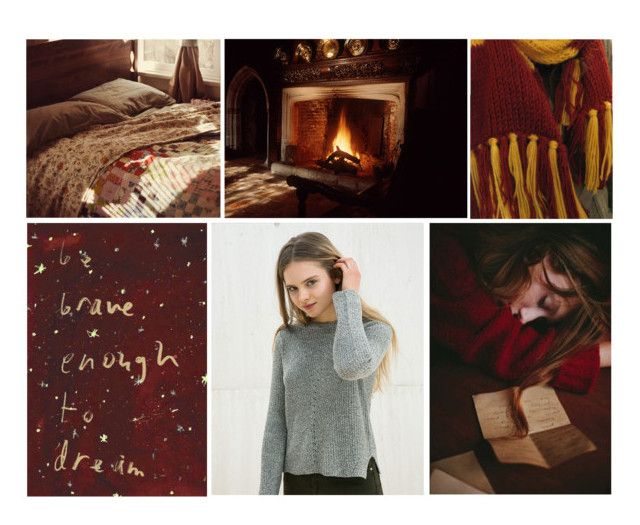 """""""Aesthetic #4 Gryffindor (OC – Julienne Harper)"""" by leah1992 ❤ liked on Polyvore featuring art, Gryffindor, OC and mywriting"""