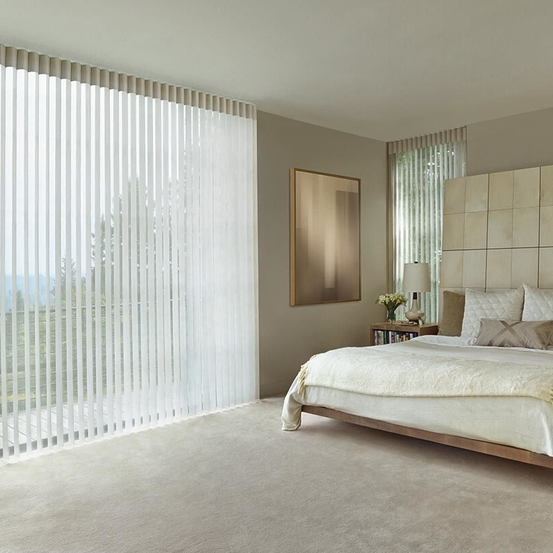 Hunter Douglas Luminette Shades Compliment A Modern Bedroom