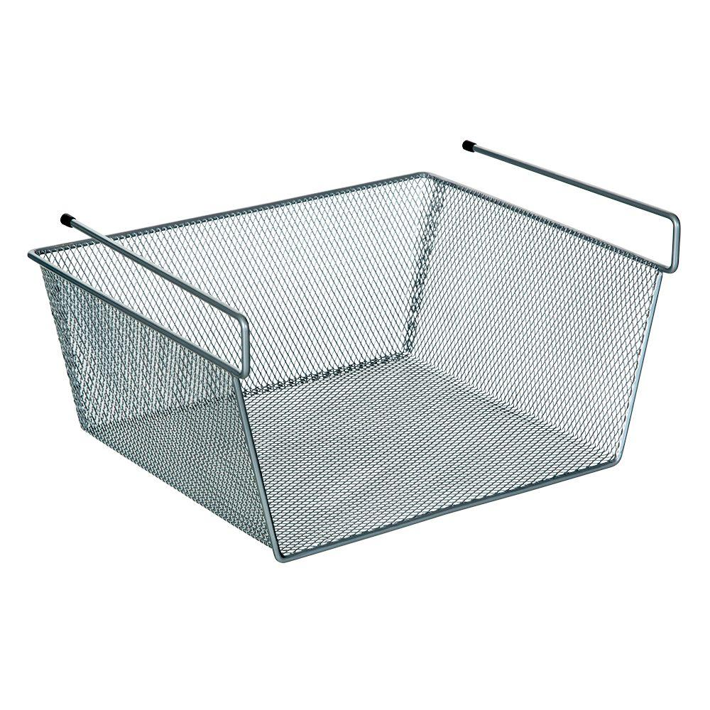 Ltl Home Products More Inside Small Under Shelf Wire Basket Ws Z115431c The Home Depot In 2020 Under Shelf Storage Wire Closet Shelving Pantry Storage