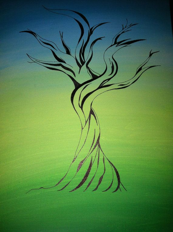 Tree Painting by AmyCakesCustoms on Etsy
