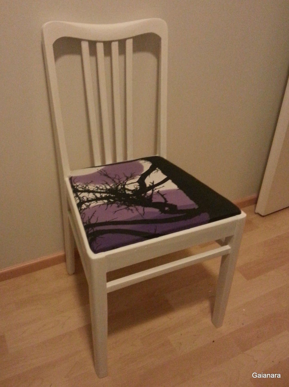 Old chair with new paint and draping