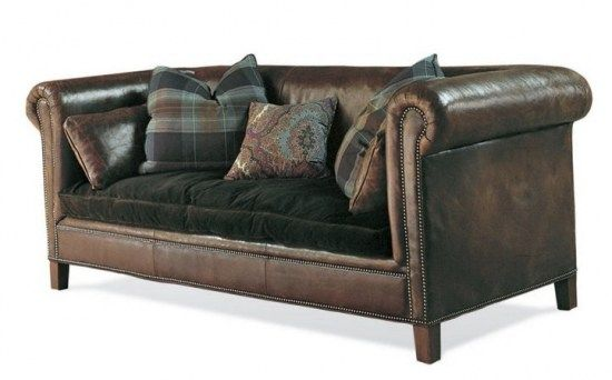 Image Detail For Ralph Lauren Sofa Leather Velvet Cushion Eclectic Room Home Decor Sofa Makeover Furniture Leather Sofa