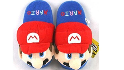"Super Mario Adult Plush Slipper - Up to 10.5"" Long Super ..."
