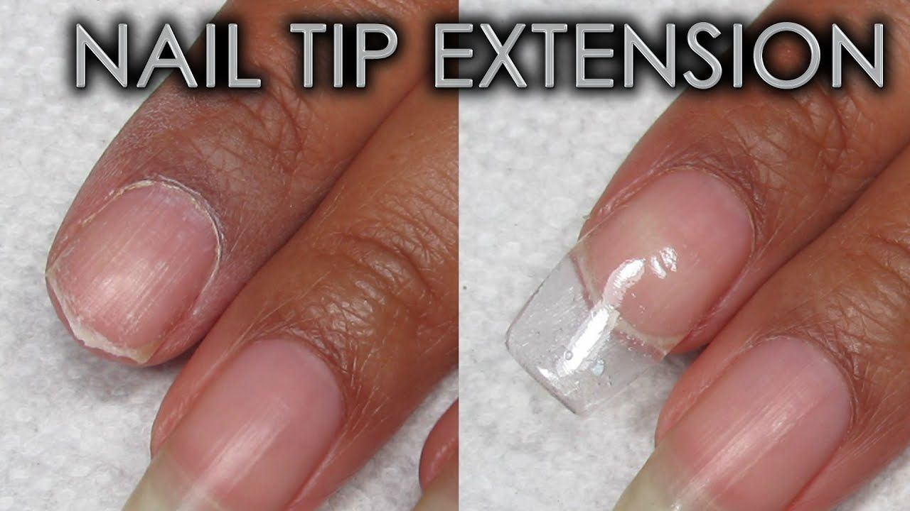 Tip Extension Using Patching Products DIY Nail Repair