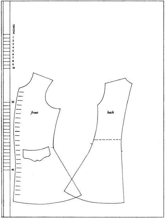 1710-tal, 1720-tal, väst, mönster. Pattern, waistcoat.