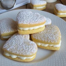 Photo of HEART COOKIES with milk cream filling