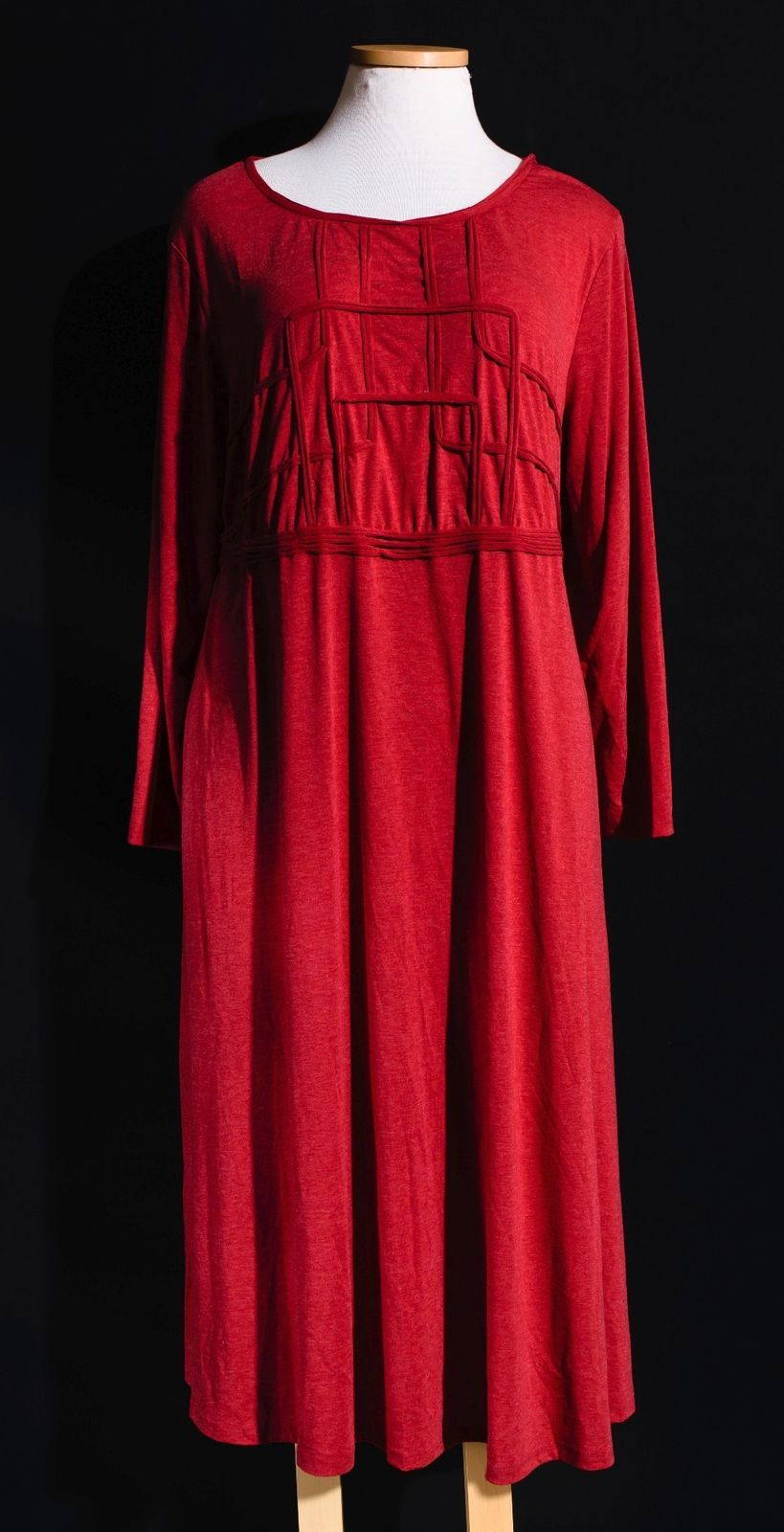 Nice awesome seventh avenue soft red casual modest long sleeve maxi
