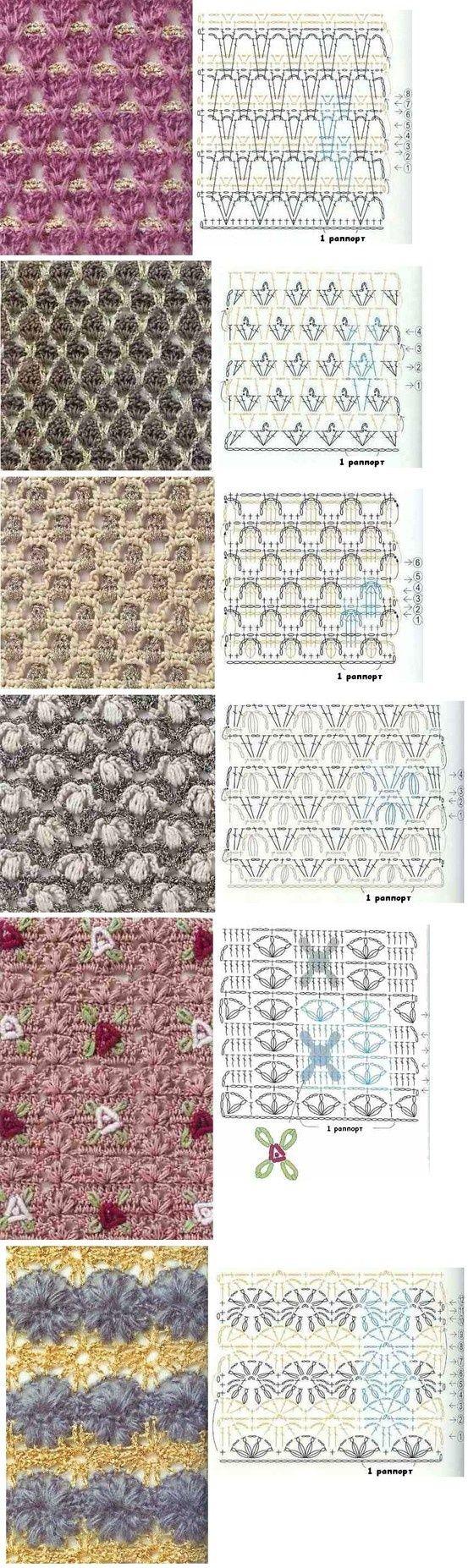 very special crochet stitches! | sulam benang | Pinterest | Puntadas ...