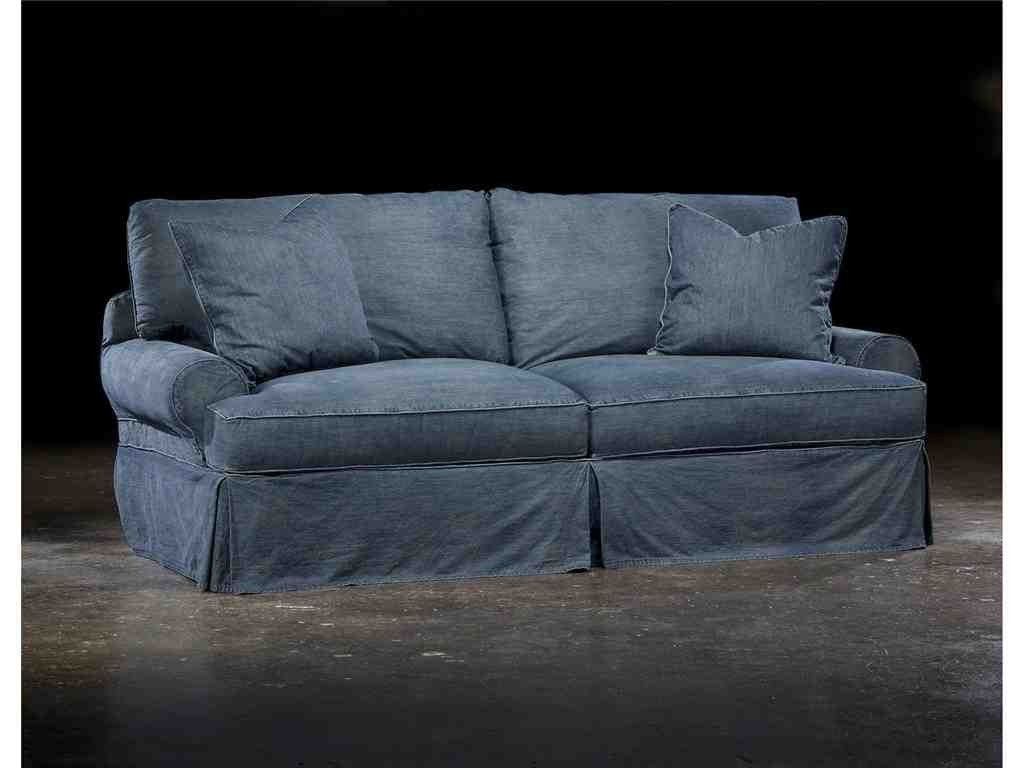 Denim Slipcover Sofa Sure Fit Designer Denim Furniture