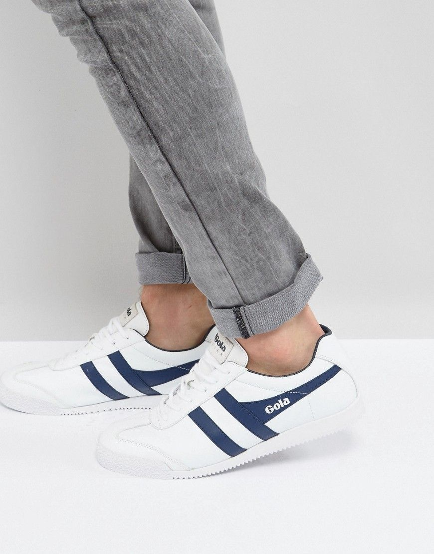 Gola Harrier Leather Sneakers - White