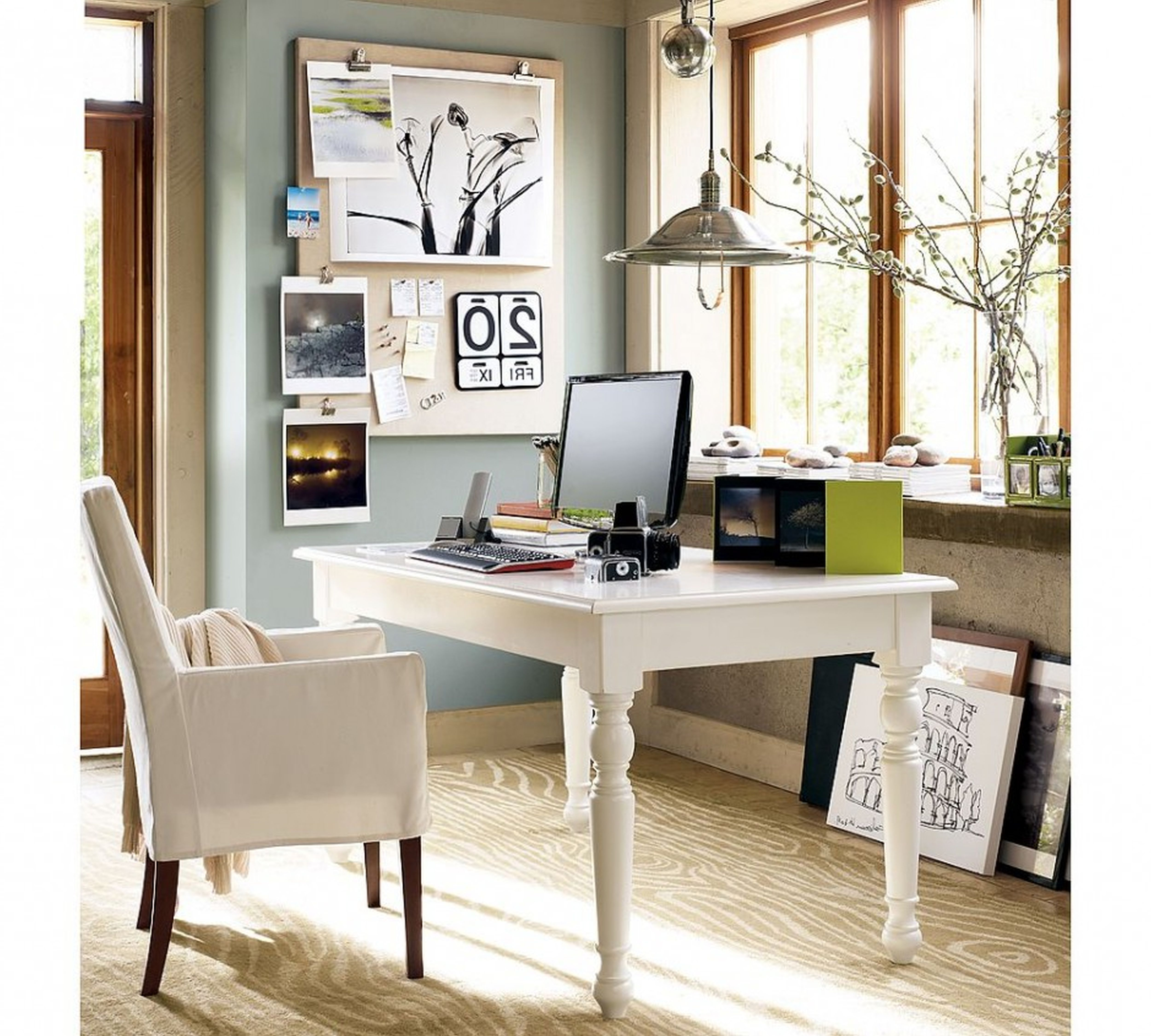 Design Ideas Exquisite Victorian Home Small Home Office With White ...