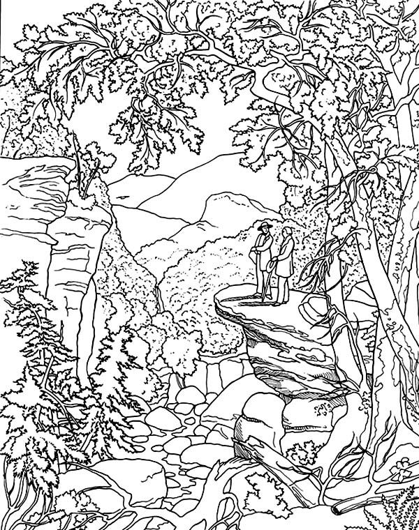 The explorer famous painting coloring pages