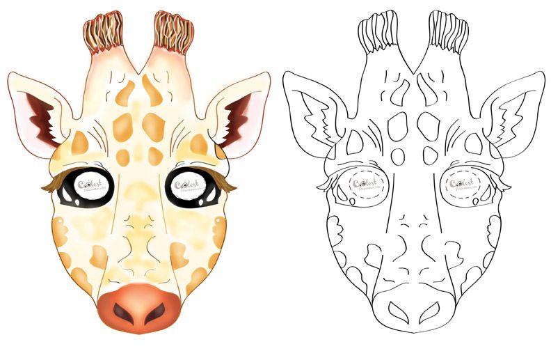Printable Giraffe Mask | Giraffe, Halloween masks kids