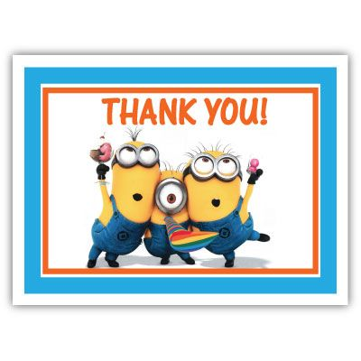 c1fdc48220ed3848822b7b0f960e0cfa minion thank you card my sister's disney wedding pinterest
