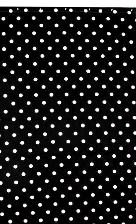 Sturdy Cotton Duck Shower Curtain Made In Usa Tub Size Black
