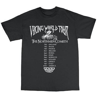 Vikings World Tour t   shirt 100% coton Ragnar Lothbrook métal lourd Valhalla dans T-shirts de Accessoires et vêtements pour hommes sur AliExpress.com | Alibaba Group