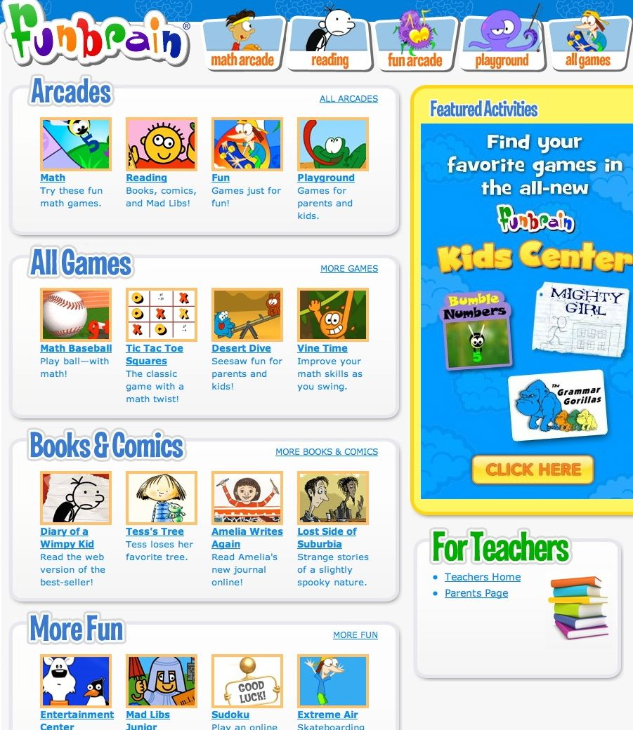 FunBrain is the 1 site for