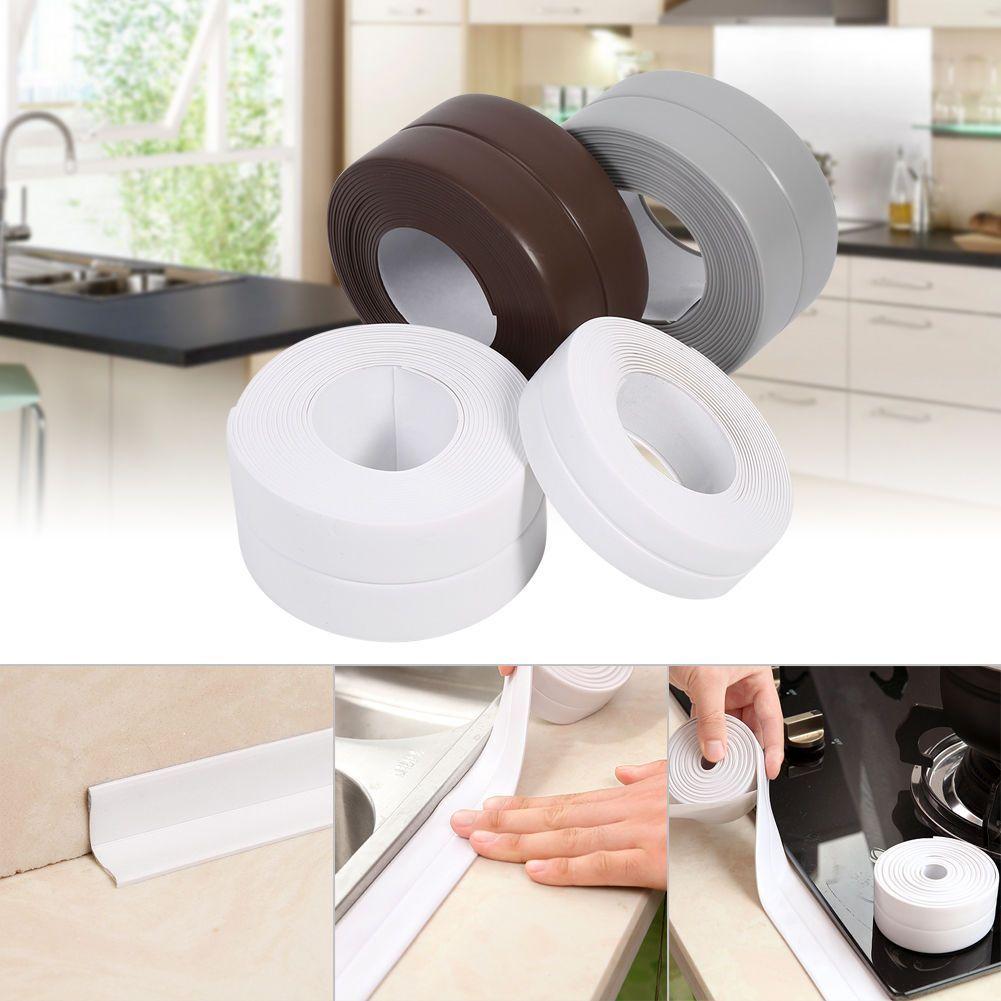 3.2M Length Self Adhesive Bathroom Wall Sealing Strip Sink Basin ...