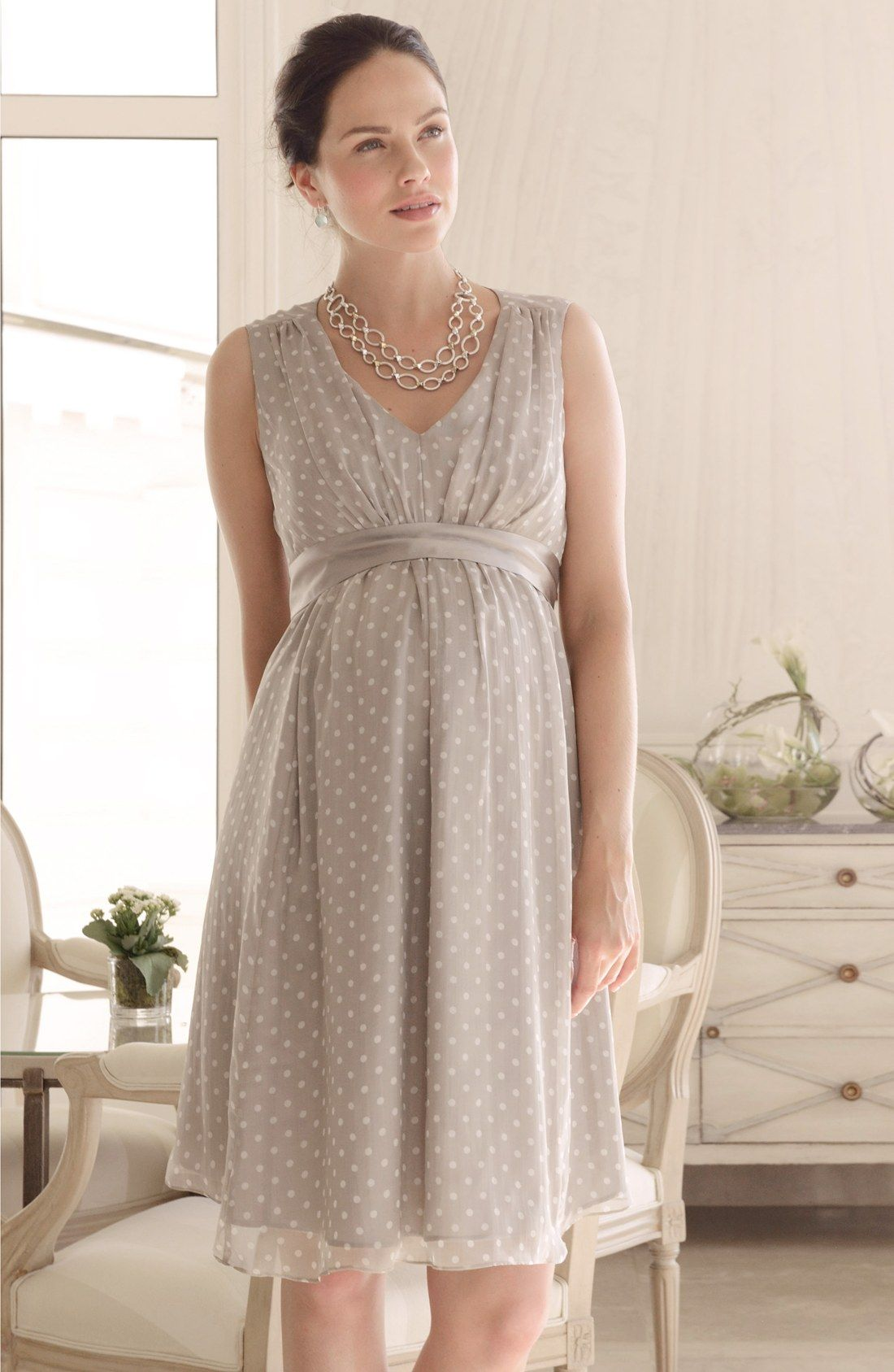 seraphine silk chiffon maternity dress bridesmaid
