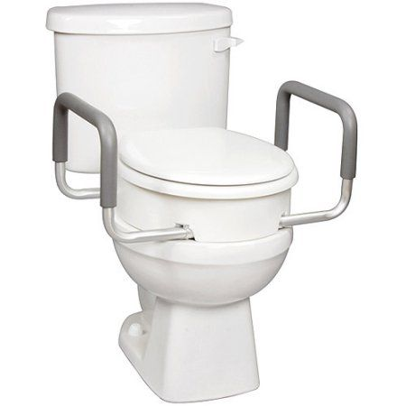 Enjoyable Carex Raised Toilet Seat With Handles For Standard Elongated Uwap Interior Chair Design Uwaporg