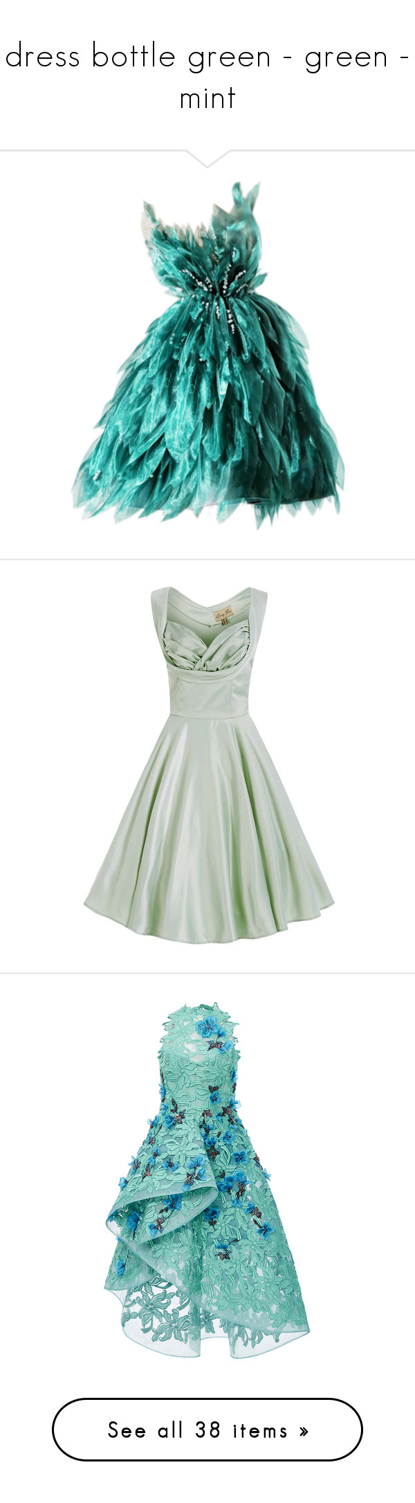 dress bottle green - green - mint\