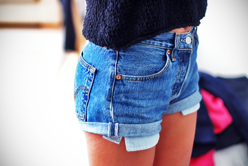 Perfect denim shorts for summer.